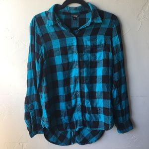 Lucky Brand Women's blue flannel Sz S